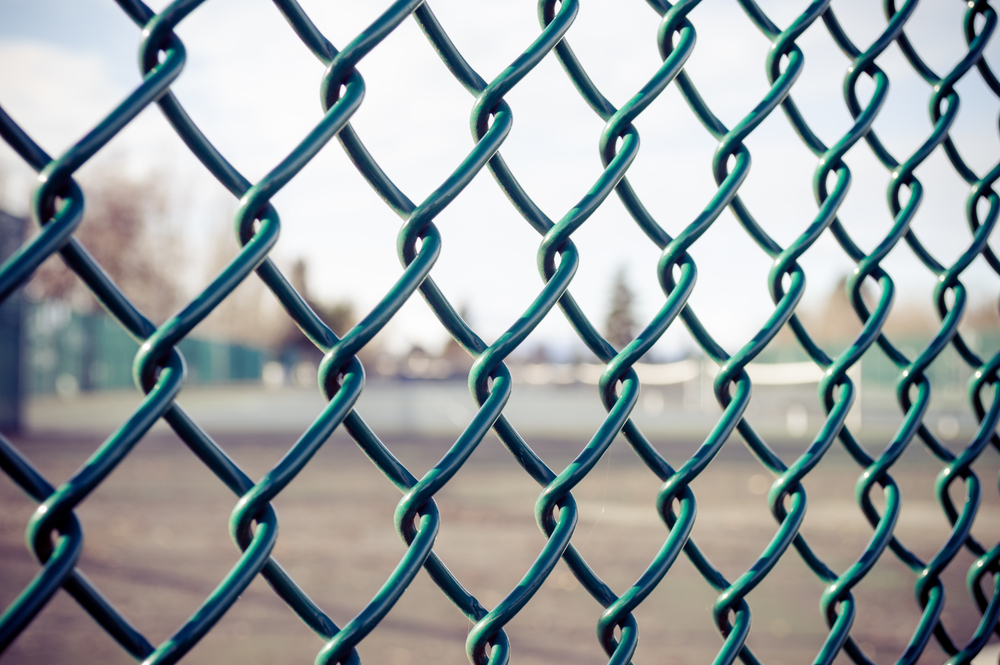chain link fence boundary security
