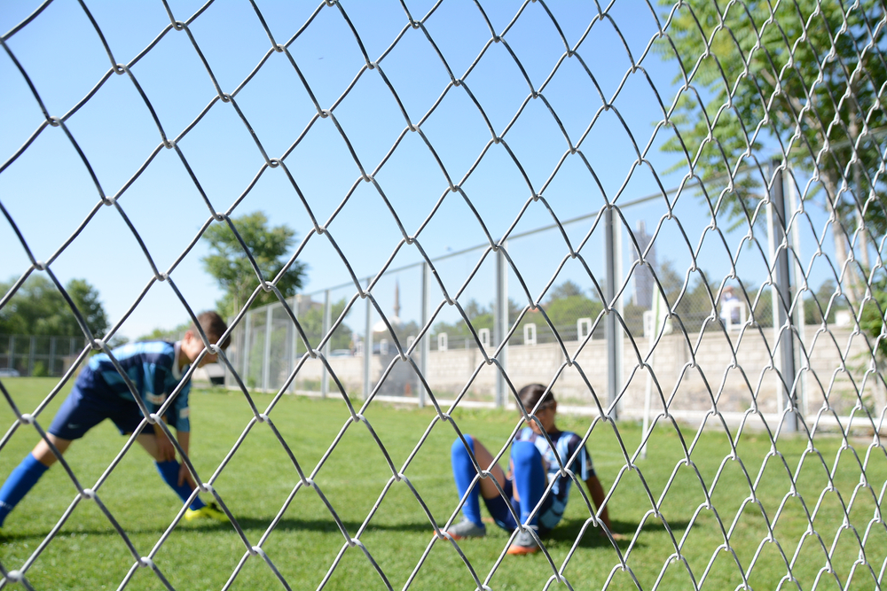chain link fence sports